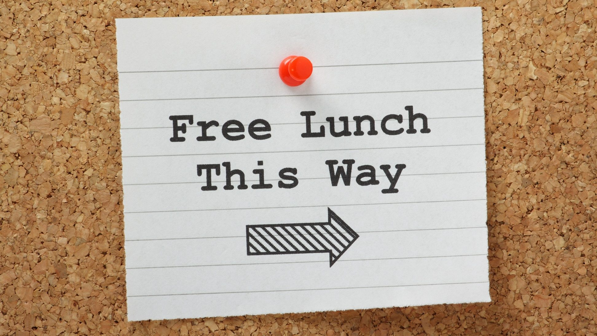 Sign for free lunch