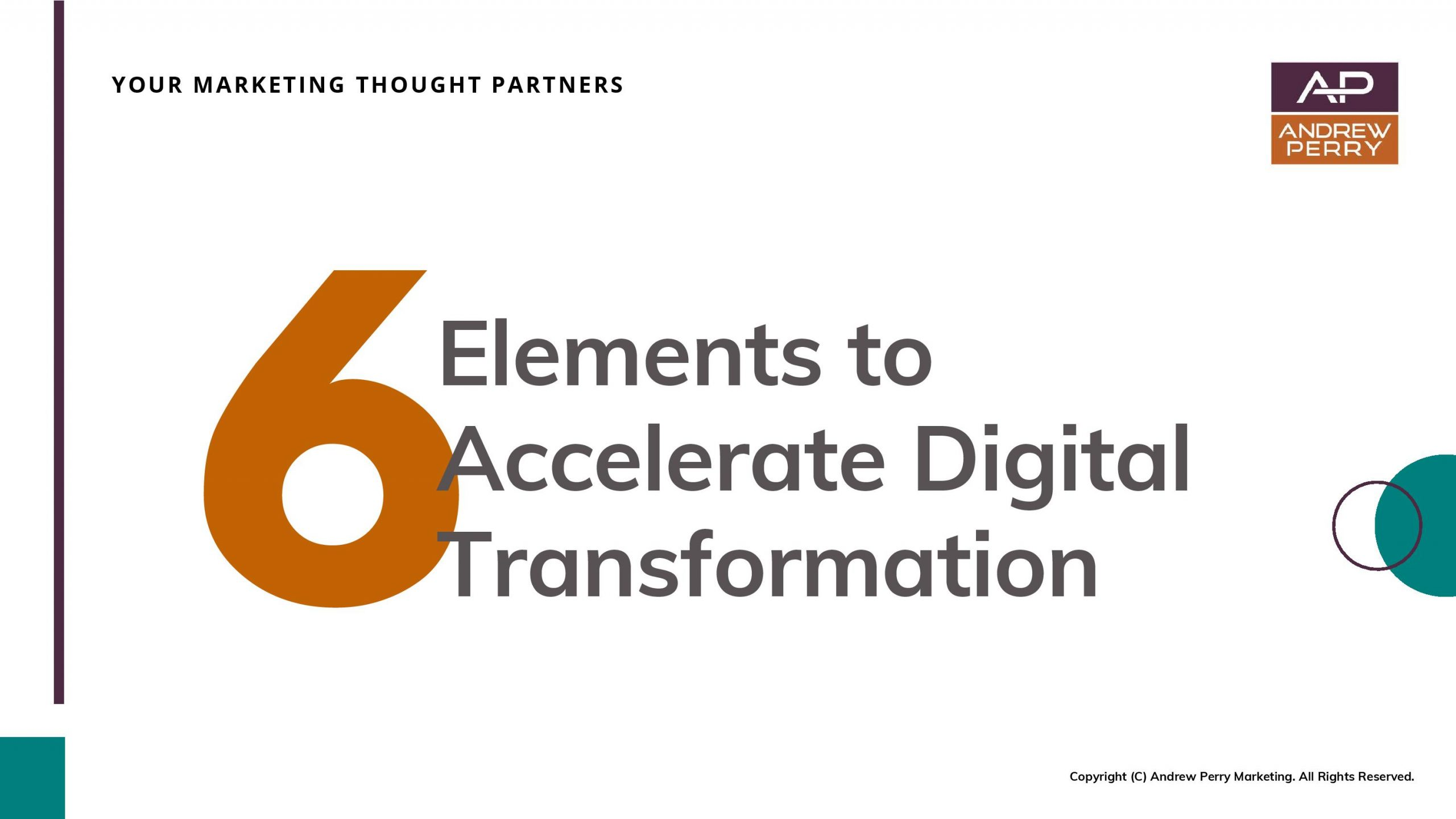 6 Elements to Accelerate Digital Transformation