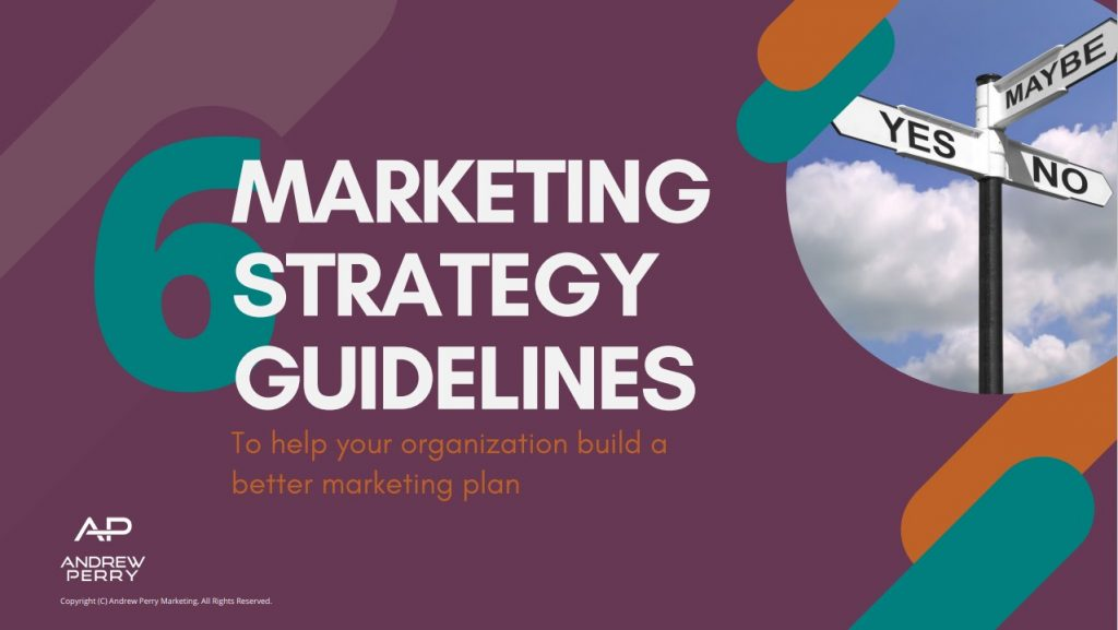 6 Marketing Strategy Guidelines Cover